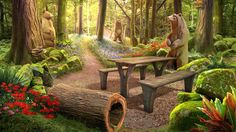 Enjoy a beautiful hidden object adventure in the fabulous Pinecreek Hills National Park in Vacation Adventures: Park Ranger 2! Click the pin to play. Game Background Art, Episode Backgrounds, Garden Bridge, Ranger, National Parks, Outdoor Structures, Vacation, Adventure, Play