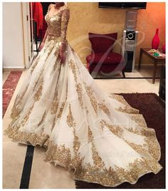 White gold bridal lehenga  Panache.Pakistan on Facebook