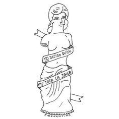 Statue but with the handmaids tale quote Statue but with the handmaids tale quote feministas Statue, Venus Painting, Venus Tattoo, Venus Symbol, Simpsons Tattoo, Feminist Art, Flash Art, Symbolic Tattoos, The Simpsons