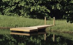 dock for the pond so simple yet so pretty - Boat Dock Design Ideas