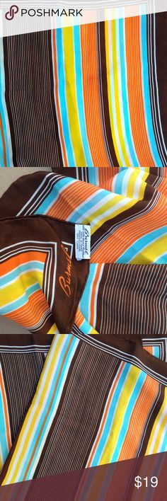 """Vintage Silk scarf Designer silk scarf. Hand rolled edged. Gorgeous colors. Tags still included. About 32"""" X 33"""". Fair offers or bundle. Vintage Accessories Scarves & Wraps"""