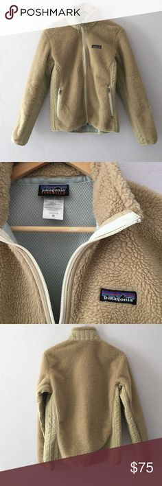 Patagonia Retro-X Synchilla Fleece Jacket RARE tan Patagonia fuzzy full-zip Deep Pile Fleece jacket. This jacket is sold out everywhere! In great used condition; no signs of wear besides slight fading of the size tag. Super fun jacket and I hate to give it up but it's too big for my liking. Patagonia Jackets & Coats
