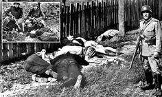 Sadism: The transcripts reveal how ordinary German soldiers revelled in massacres during the Second World War. Here a soldier poses next to serbian civilians shot dead in Yugoslavia Prisoners Of War, The Third Reich, Lest We Forget, World War Ii, Wwii, Crime, Uk News, Mail Online, Daily Mail