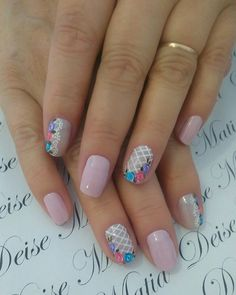 Spring Nails, Summer Nails, Diamond Nails, Crystal Nails, Glitter Background, Nail Arts, Pretty Nails, Pink Color, Nail Colors