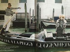 Lara Stone as Peggy Guggenheim by Karl Lagerfeld, Harper's BAZAAR Romania, September-November 2009.