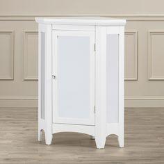 "Alcott Hill Langport 24.75"" x 32"" Mirrored Corner Free Standing Cabinet"