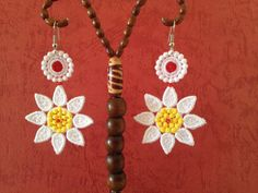 Lace earrings Flowers lace earrings Lace by NewCreativeBliss, $11.00