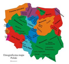 Poland Language, Map Geo, Polish Folk Art, Teaching Geography, School Study Tips, School Notes, Historical Images, Cartography, Genealogy