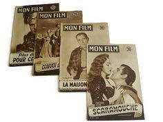 Vintage French magazine Mon Film 50s lot of 4 by VintageBreda
