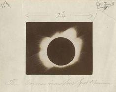 Eclipse solaire, c. 1905 Tirage aristotype dans une poche, indications de cadrage 12,2 x 15,5 cm