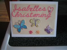 Accountant By Day: Christening card A sweet little card for a sweet little girl on her Christening, made with Cricut