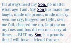 Made Me Laugh mother & son inspirational quotes