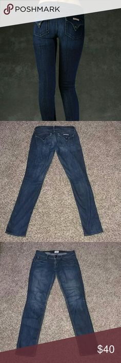 "Hudson Collin Flap Skinny Jeans HUDSON Collin flap skinny jeans. In excellent condition. Size 26.  Inseam 30"" Hudson Jeans Jeans Skinny"