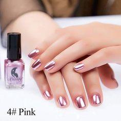 Pink Chrome Nail Polish - Pink Chrome Nail Polish , 21 Chrome Nails From Mirror Nail Polish to Acrylic Nail Pink Chrome Nails, Chrome Nail Polish, Metallic Nail Polish, Red Nail Polish, Silver Nails, Red Nails, Acrylic Nails, Gold Nail, Metallic Pink
