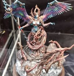 If you love Creature Caster minis, you won't want to miss these entries from their Resin Beast painting competition at this year's Adepticon. Thousand Sons, Painting Competition, Purple Highlights, Warhammer Models, Tough Girl, Blue Color Schemes, Angels And Demons, Creature Design, Character Design Inspiration