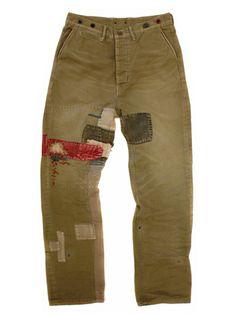 kapital.jp patched pants