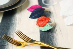 diy colorful napkin rings from Hank & Hunt