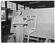 MCL - Bus Stop Signs circa 1955.