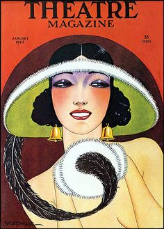 Theatre magazine, January 1924, cover artist, Baskerville