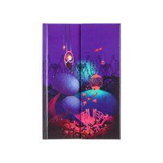 Carnet anatopik violet et vert - 192 pages blanches 11x15cm