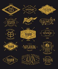 Yasakin hand-lettered Branding by BMDdesign