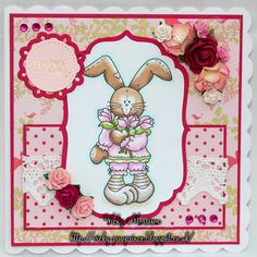 Spring Images, Tulip Bouquet, Tulips, Bunnies, Bears, Sweet, Cute, Flowers, Animals