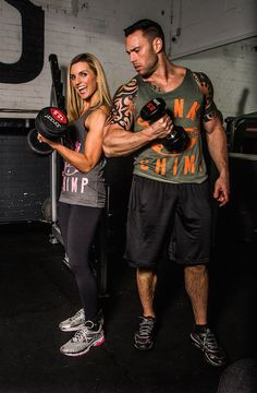 She lifts .... He tries ;)