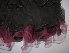 Need a fancy, lettuce edge tulle ruffle for a project? You only need basic  sewing skills... just grab your sewing machine, some tulle, and a spool of thick fishing line, and this article will tell you how to get it done!