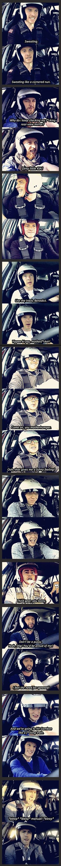 Top Gear brings out the best in celebrities :) please excuse the language but this is funny