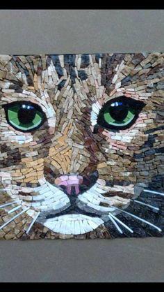 Mosaic Glass, Mosaic Tiles, Glass Art, Mosaic Art Projects, Mosaic Animals, Angel Pictures, Mosaic Garden, Weird Art, Mosaic Patterns