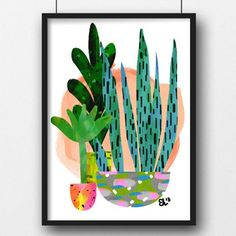 Tea Pea - Evie Kemp Art Print - Botanical Potted 2