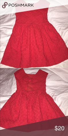 Girls Red eyelet summer dress Zara kids Girls red eyelet dress with open back and bow in back. Zara Dresses Casual