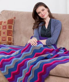 Windsor Ripple Throw, free instructions. http://www.redheart.com/free-patterns/windsor-ripple-throw
