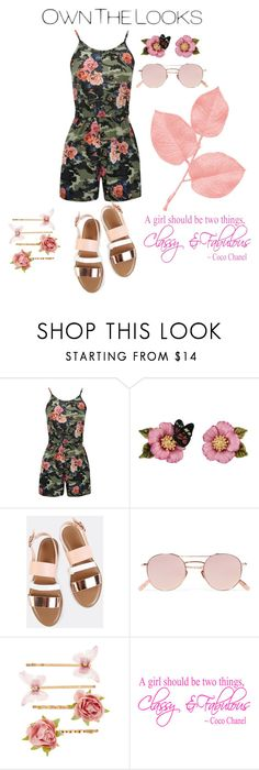 """""""Floral Camo Playsuit!"""" by lheijl ❤ liked on Polyvore featuring Les Néréides, Krewe and Accessorize"""