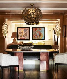 Dining Room Seating that I want but built in banquette style --At Home with Cameron Diaz