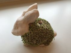 As the title suggests, I'm making chia pets with my Studio Art class. We started off with quick pinch pots to get a feel for the clay and moved right into chia pets. Here is my example pre-se… Sculpture Lessons, Sculpture Clay, Abstract Sculpture, Ceramics Projects, Clay Projects, Art Lessons For Kids, Art For Kids, High School Ceramics, Chia Pet