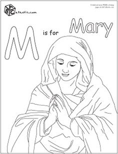 Catholic Preschool ABC coloring pages