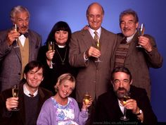 The Vicar of Dibley. Okay, my two favorite scenes (there are too many to list them all). the one where she falls in the hole of mud and the chocolate freezer. I love you Dawn French.