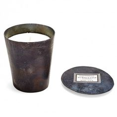 Mad et Len Organic Therebentine Candle    Rustic, sharp, oily, resinous, and woody notes evoke the scent of a painter atelier. Mad et Len's vegetable wax candle is made with undiluted flower, wood, and spice essential oils emitting intoxicating rustic, resinous, and woody notes. Housed in a brushed black steel vessel.