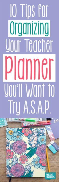 10 Tips for Organizing Your Teacher Planner