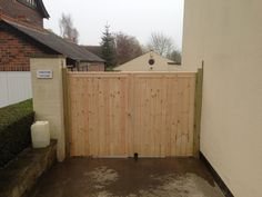 Bespoke garden gates by Atkinsons fencing Garden Fence Panels, Garden Fencing, Drive Gates, Garden Buildings, Decking, Bespoke, Shed, Outdoor Structures, Outdoor Decor