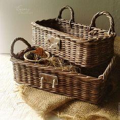 Деревенская корзинка, старая корзиночка, корзинка в подарок, для уюта.
