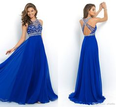 2016 Cheap In Stock Flow Chiffon Sexy Back Evening Dresses Halter Neck Beaded Crystals Backless Only $69 Long A Line Prom Gowns Halter Neck Evening Dresses High Street Evening Dresses From Allanhu, $92.07  Dhgate.Com