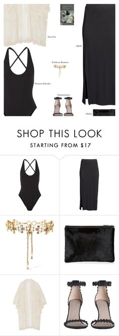 """""""Saturday"""" by amberelb ❤ liked on Polyvore featuring Proenza Schouler, H&M, Erickson Beamon, Anna Sui and Zimmermann"""