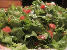 Green with Lemon and Turkish Salad