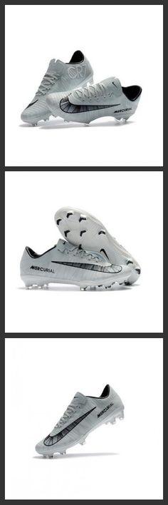 8177dcd9b2cc Uomo Scarpe Calcio Nike Mercurial Vapor 11 FG CR7 CR7 Grigio Nero Bianco  Soccer Boots