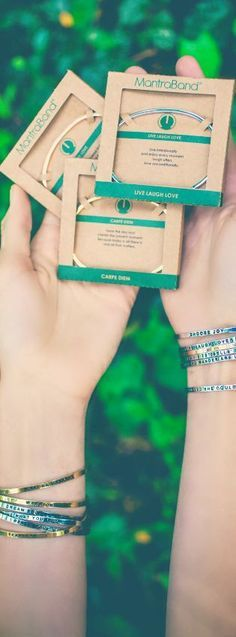 Mantraband Bracelets make the perfect gift for any occasion or no occasion at all. Each mantra is packaged in an ec-friendly box ready to be gifted!