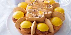 Saint-Honoré mangue-mandarine et chantilly au caramel