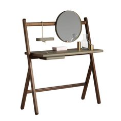 Simple (and portable) home vanity. Utility Design. For more great ideas check out our blog: http://www.kenisahome.com/blog/about-brands/updating-your-vanity/