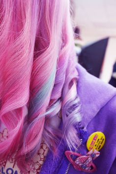 pink,purple and blue. Want to get 3 streaks on dark hair at least!
